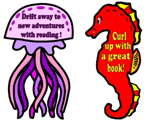 Dive Into Reading Fish and Ocean Theme Bulletin Board Display