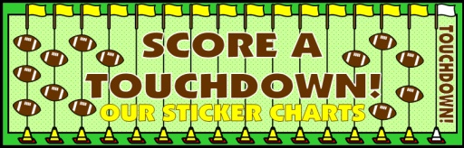 Football Field Sticker Chart Bulletin Board Display Banner