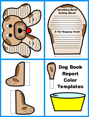dog book report project color templates