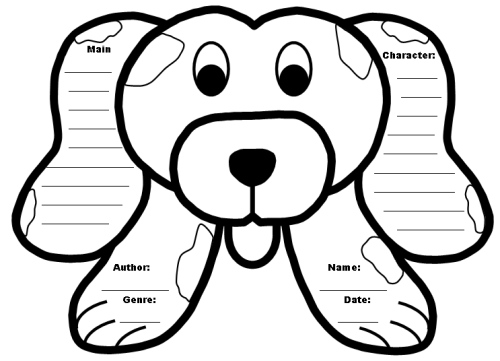 Dog Book Report Project Templates Head