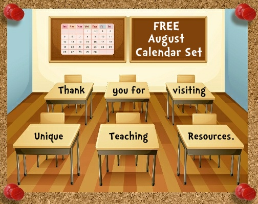 Free Printable August Classroom Calendar For Teachers To Download