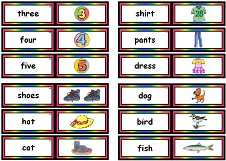 Fry Picture Nouns Free Downloads of Flashcards and Teaching Resources