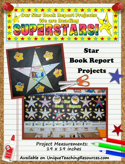 Fun Book Report Project Ideas - Star Templates