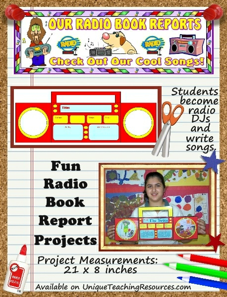 Fun Book Report Project Ideas - Radio Templates