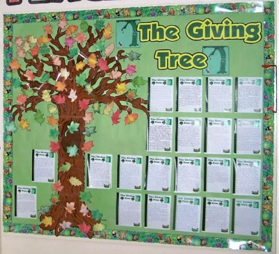 The Giving Tree Shel Silverstein Classroom Bulletin Board Display Ideas