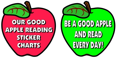 Apple Reading Bulletin Board Display Accent Pieces