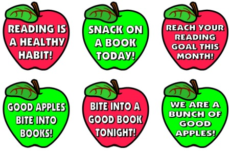 ... For Reading: Reading incentive charts with apple shaped templates