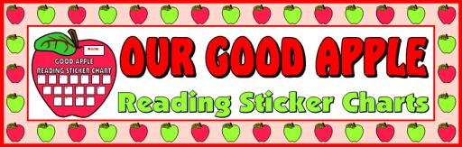 Reading Apple Student Sticker Charts Bulletin Board Display Banner