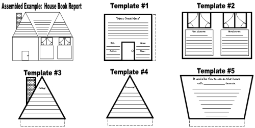 House Book Report Projects, Templates and Worksheets Elementary School Students