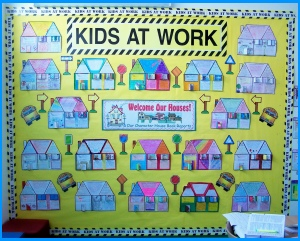 Character House Book Report Projects Bulletin Board Display