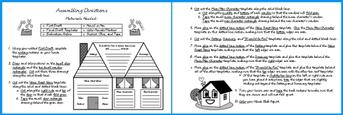 Book Report Projects Assembly Directions Character House