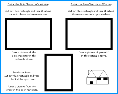 House Book Report Window and Door Templates