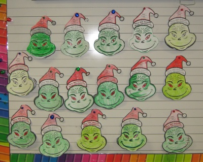 How the Grinch Stole Christmas Classroom Bulletin Board Display Ideas for Dr. Seuss Books