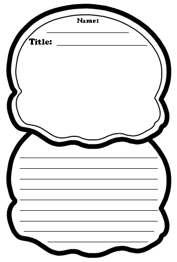 Coloring Pages Ice Cream. Ice Cream Color Poems Scoop