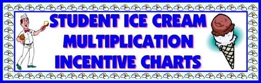 Math Multiplication Incentive and Sticker Charts Templates