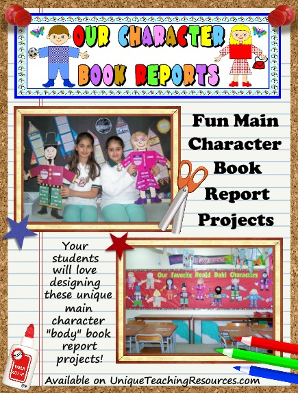 main character body book report projects