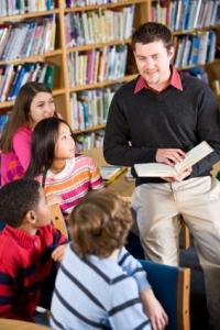 Teaching Dolch Sight Words Male Elementary School Teacher