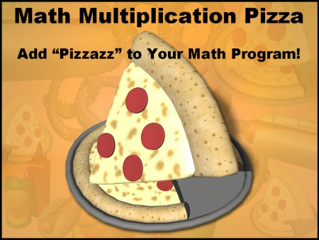 Math Multiplication Pizza Sticker and Incentive Charts