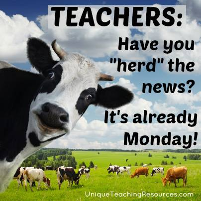 Funny quote about Mondays for school teachers
