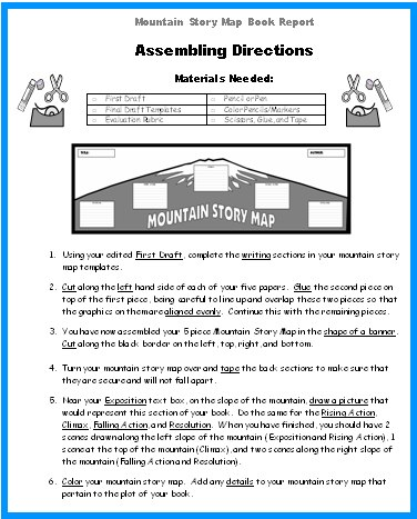 Mountain Story Map Book Report Project Templates Grading Rubric