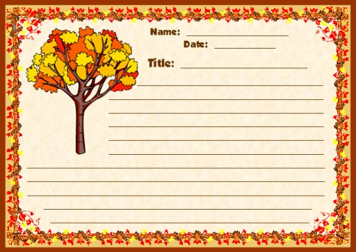 Fall Letter Template http://www.uniqueteachingresources.com/November-2009-Teachers-Have-Class.html
