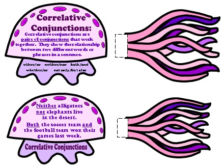 Teaching Resources and Worksheets for Conjunctions Elementary School Students