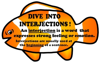 Interjections Teaching Resources and Templates for Teaching the Parts of Speech