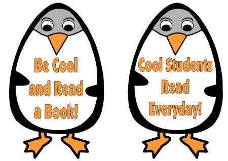 Penguin Reading Bulletin Board Displays for Winter
