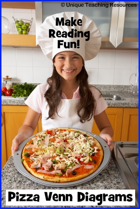 Pizza Venn Diagrams Fun Book Report Projects and Templates