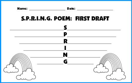 acrostic poems for children. Spring Acrostic Poem First