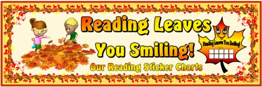 Thanksgiving Reading Sticker Chart Template:  Reading Leaves You Smiling