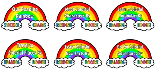 Spring Reading Rainbow Bulletin Board Display Ideas and Examples for Sticker Charts