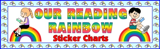 Reading Rainbow Student Sticker Charts Bulletin Board Display Banner