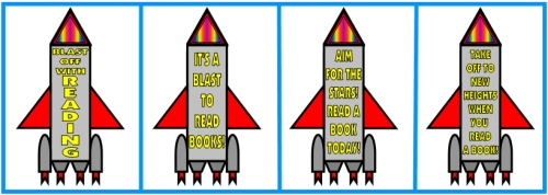 Rocket Book Report Projects and Templates Slogans to Promote Reading