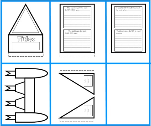 Rocket Book Report Project: Templates, Worksheets, Grading Rubric