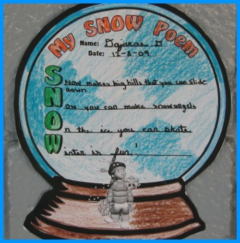 acrostic poem examples. S.N.O.W. acrostic poems from