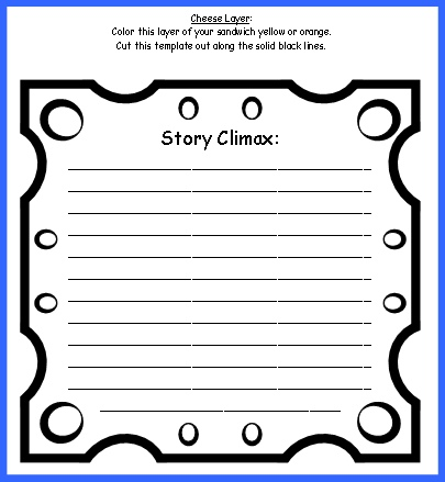 Sandwich Book Report Project: templates, printable worksheets, and