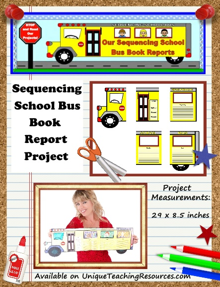 Fun Book Report Project Ideas - Sequencing School Bus Templates