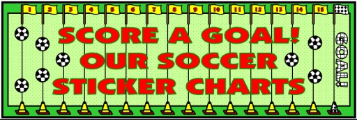 Soccer Sticker Charts Bulletin Board Display Banner