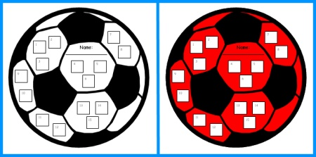 Soccer Sticker Charts and Templates