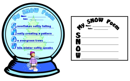 Snowman Acrostic Poem Template | Search Results | Calendar 2015