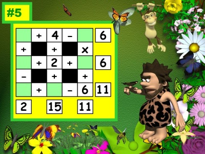 Spring Math Power Point Lesson Activity:  Addition, Subtraction, and Multiplication Puzzles