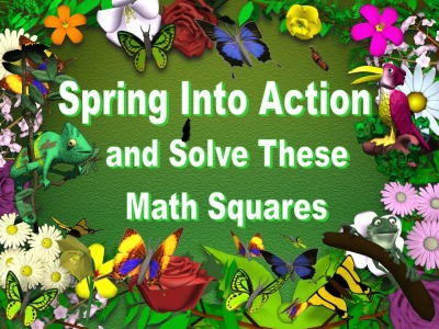 Math Powerpoint Lesson Math Puzzles for Spring