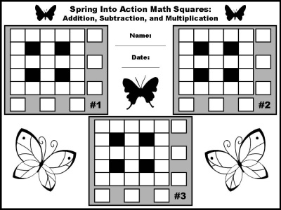 Math Puzzles and Worksheets Addition, Subtraction, and Multiplication