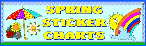 Spring Themes Sticker Charts Bulletin Board Display Banner