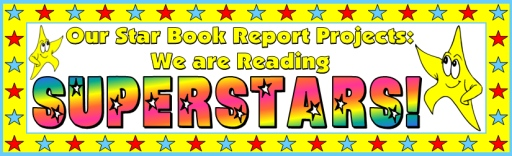 Star Book Report Projects Bulletin Board Display Ideas