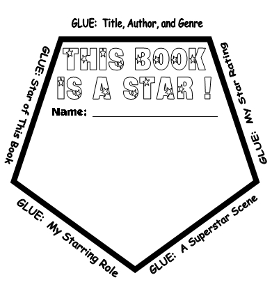 Star Assessment Template Star Templates For Book Report Projects