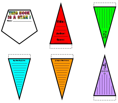 Star Shaped Book Report Projects Color Rainbow Templates Examples and Ideas