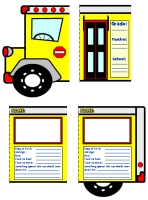 Back to School Creative Writing Bus Templates