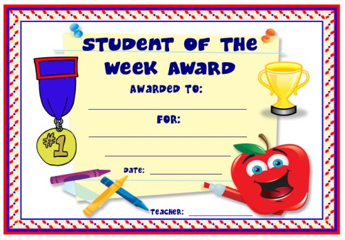 Below are some awards that you can use this school year to positively